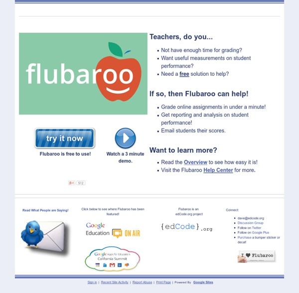 Welcome to Flubaroo
