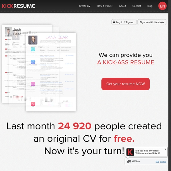 Create your original resume online for free.