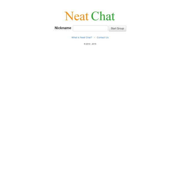 Welcome to Neat Chat!