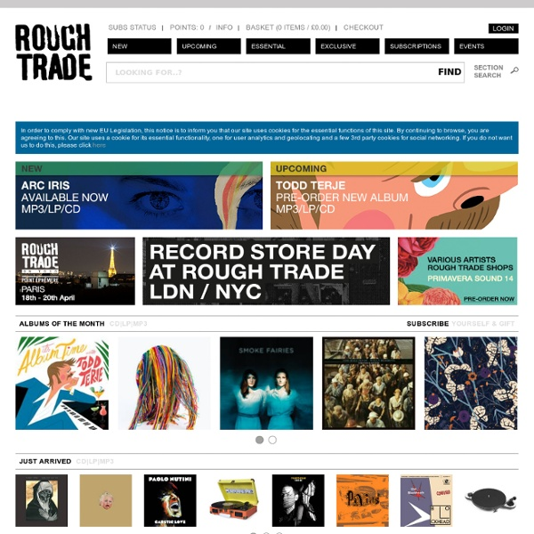 Welcome to Rough Trade Shops