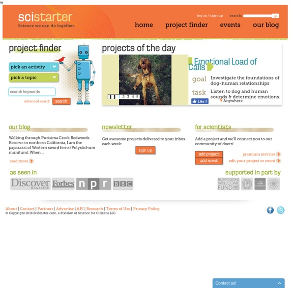 Welcome to SciStarter