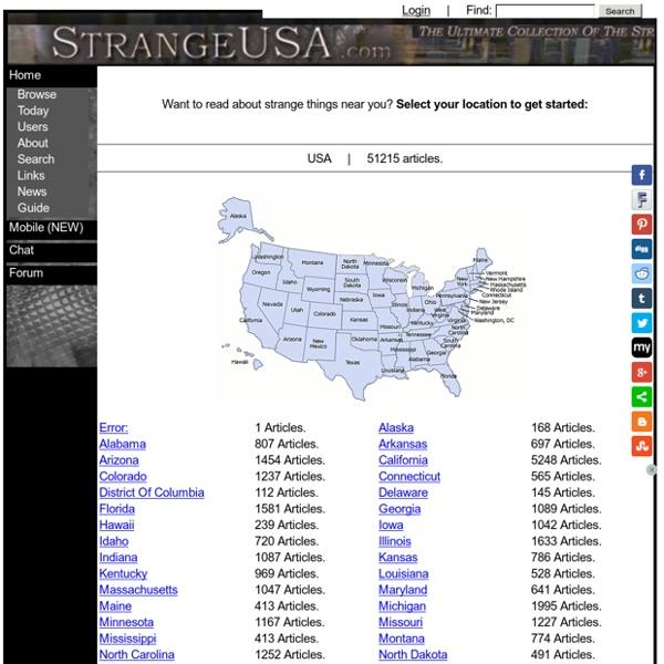 Welcome to Strangeusa.com!