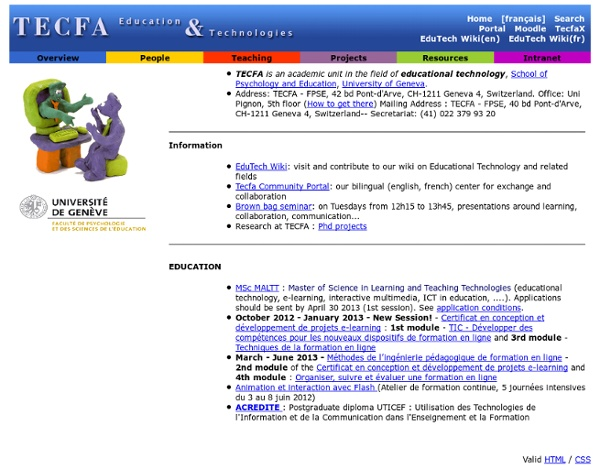 Welcome to TECFA