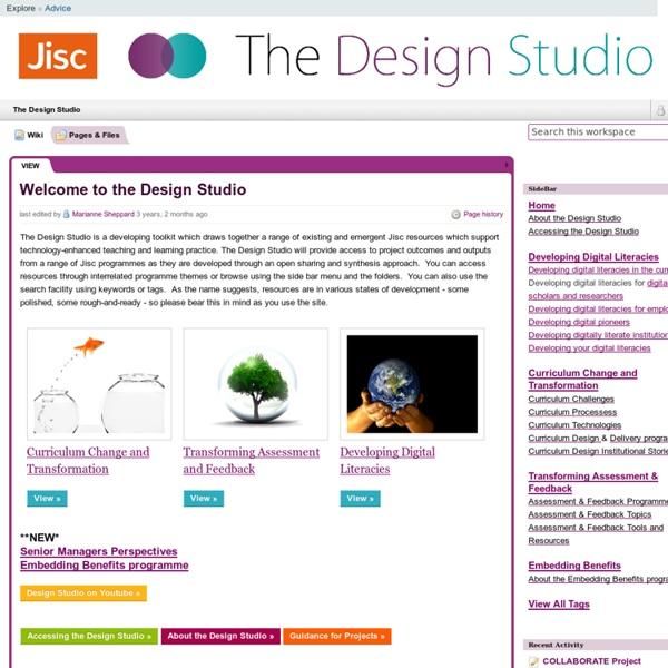 The Design Studio / Welcome to the Design Studio