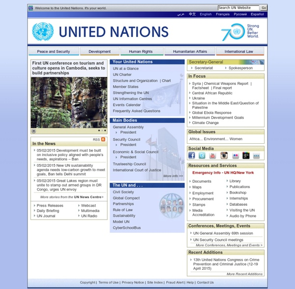 Welcome to the United Nations