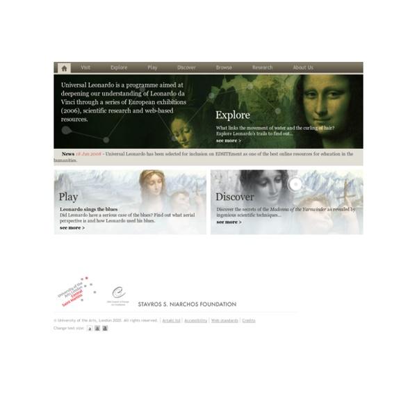Universal Leonardo: Leonardo da Vinci online › Welcome to Universal Leonardo