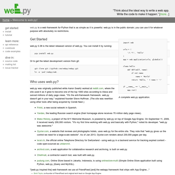 Welcome to web.py! (web.py)