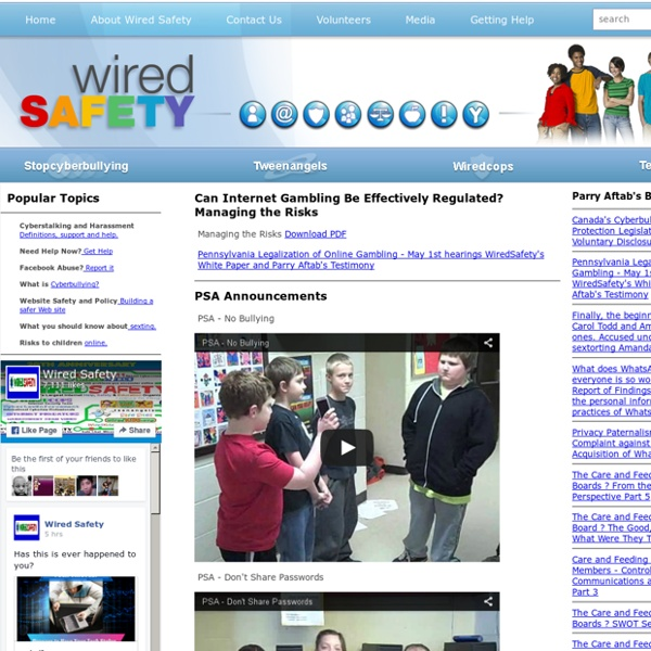 Welcome to WiredSafety.org .:. WiredSafety