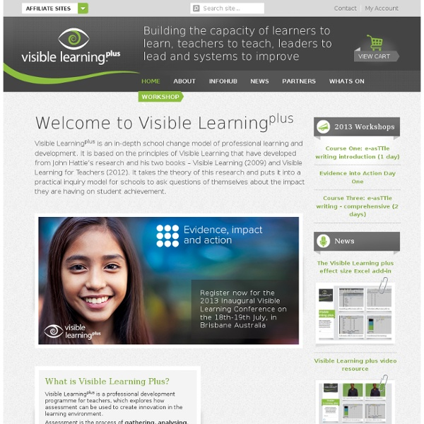 Welcome to Visible Learning