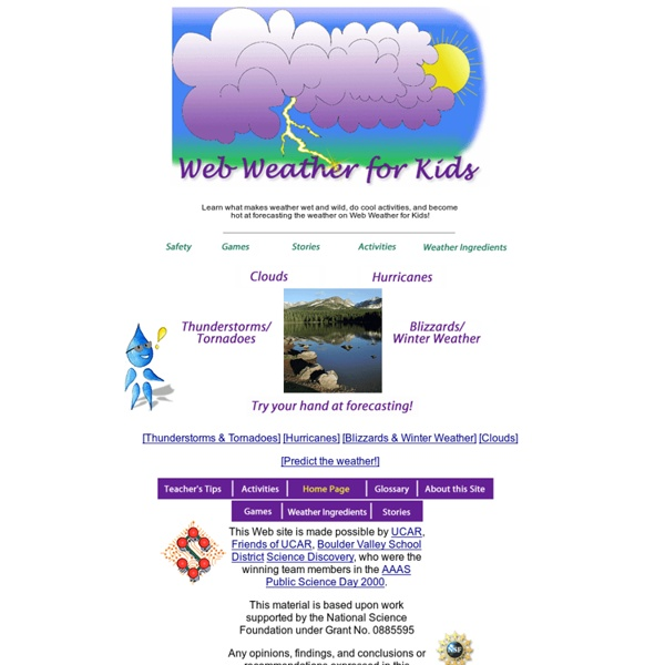 Welcome to Web Weather for Kids