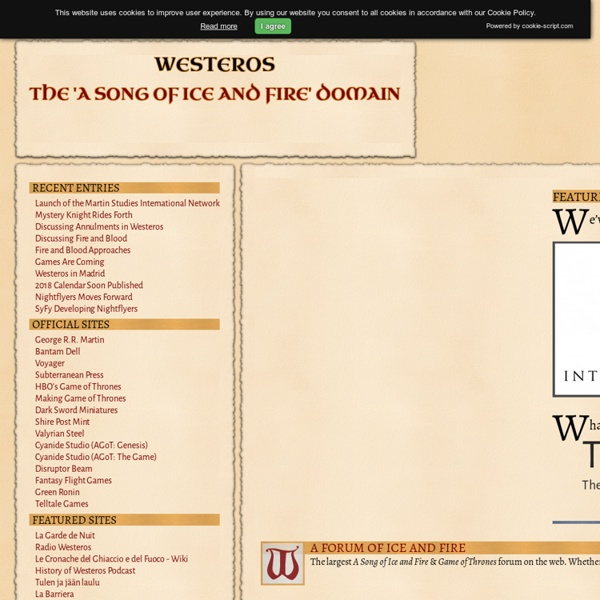 Westeros: The 'A Song of Ice and Fire' Domain