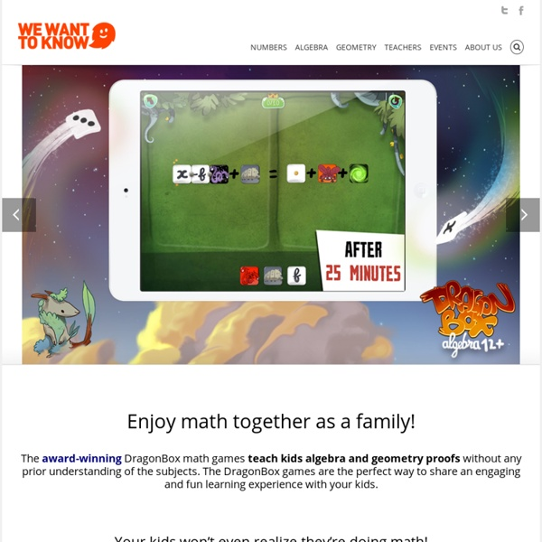 WeWantToKnow - Enjoy Math Together As A Family