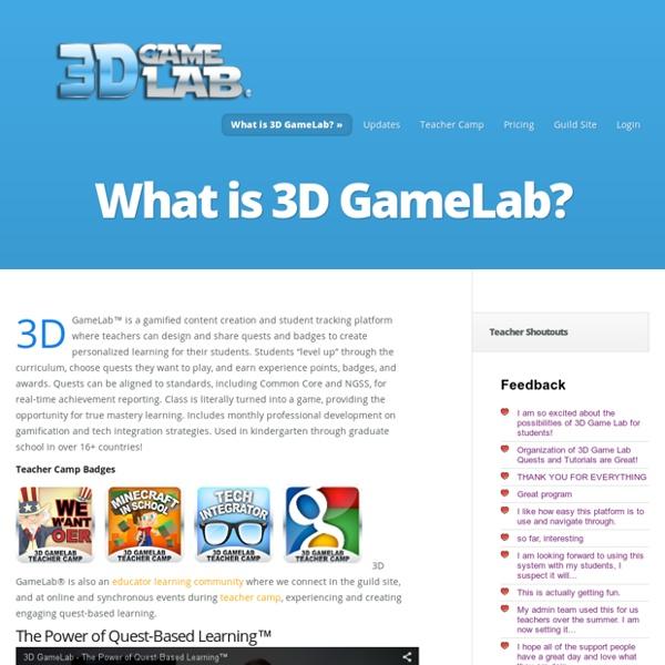 What is 3D GameLab? - 3D GameLab