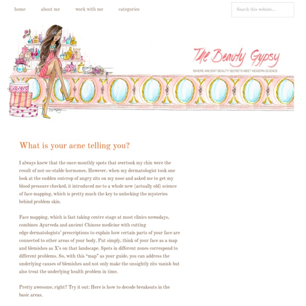 » What is your acne telling you? The Beauty Gypsy