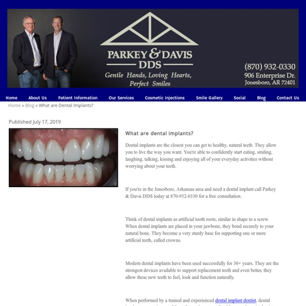 What are dental implants - Jonesboro AR