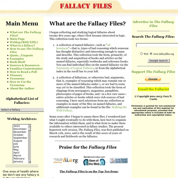 What are the Fallacy Files?