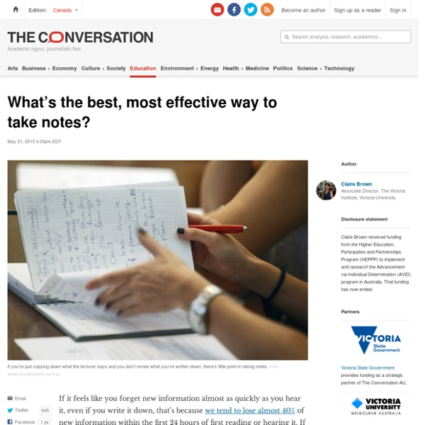 What's the most effective way to take notes?