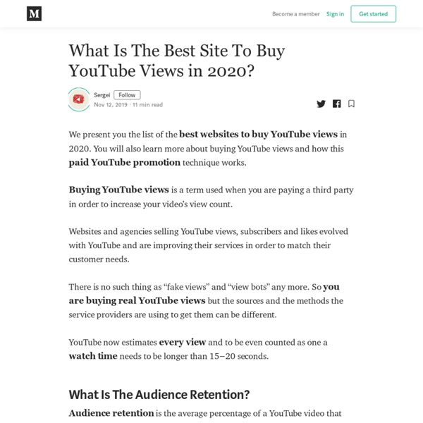 What Is The Best Site To Buy YouTube Views in 2020?