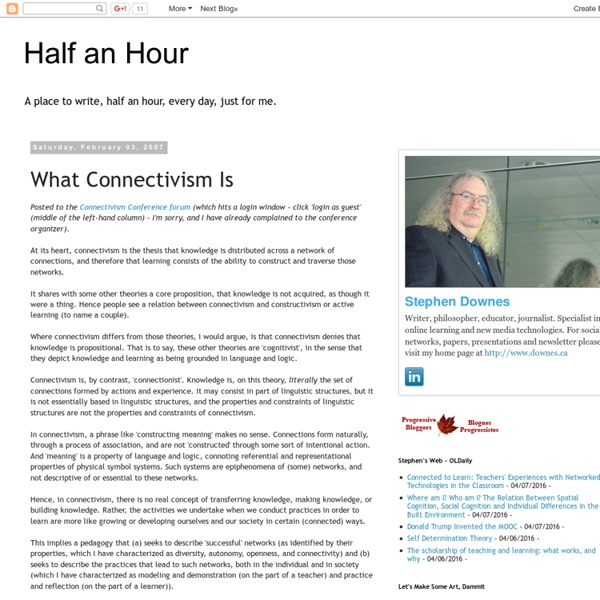 What Connectivism Is