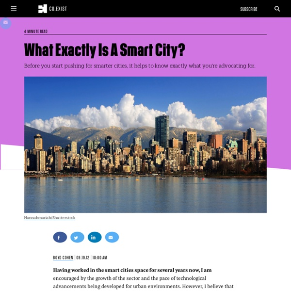 What Exactly Is A Smart City?