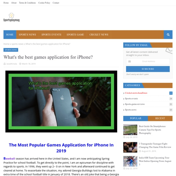 What's the best games application for iPhone?