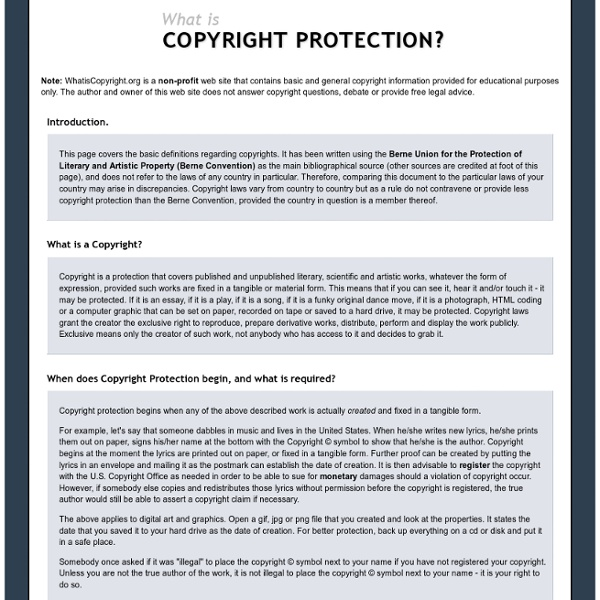 What is Copyright Protection?
