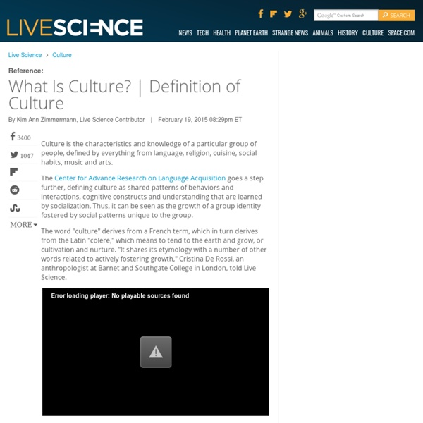 What is Culture? Definition of Culture