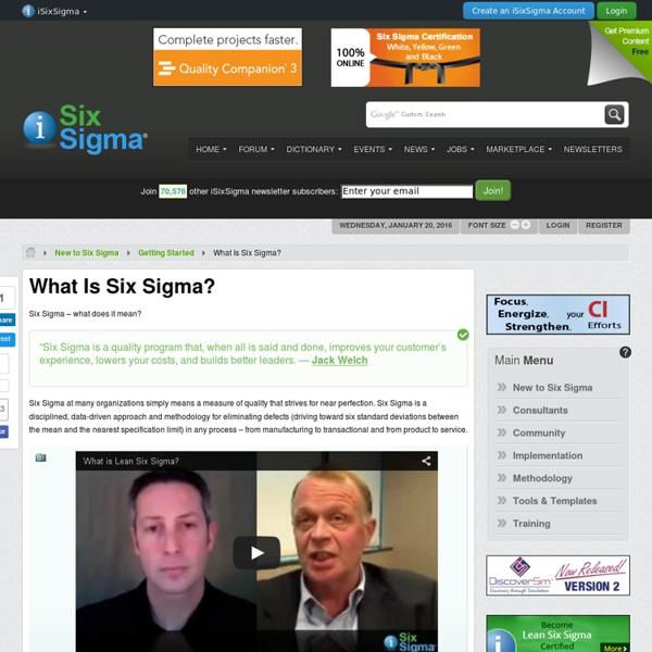 Six Sigma - What is Six Sigma?