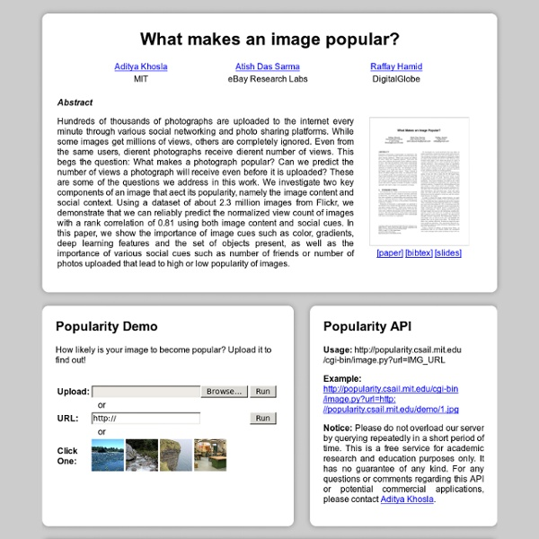 What makes an image popular?