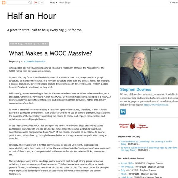 What Makes a MOOC Massive? / Stephen Downes