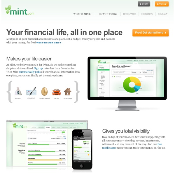 What is Mint – Your Financial Life All In One Place