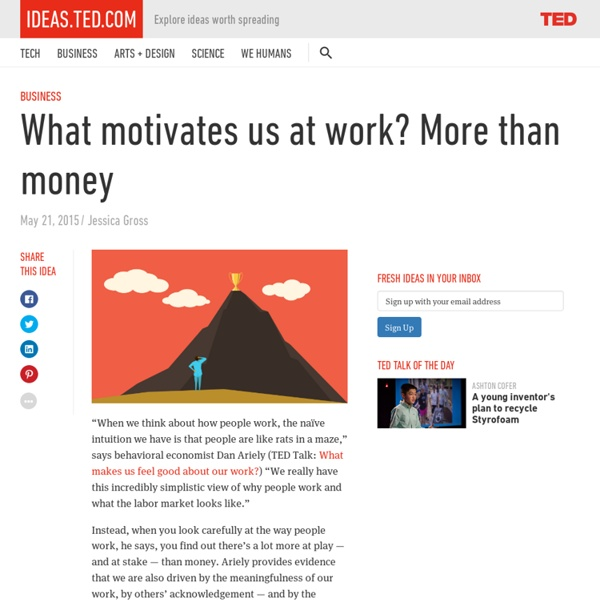 What motivates us at work? More than money
