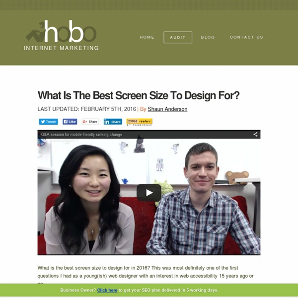 What Is The Best Screen Size to Design Websites in 2015