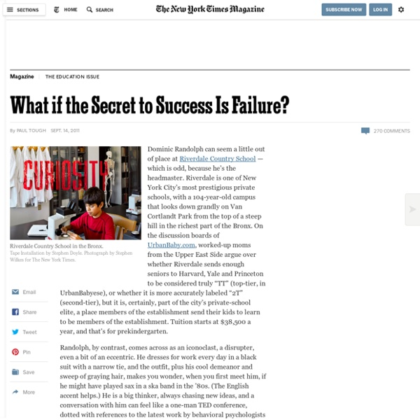 What if the Secret to Success Is Failure?