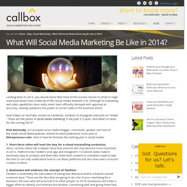 What Will Social Media Marketing Be Like in 2014?