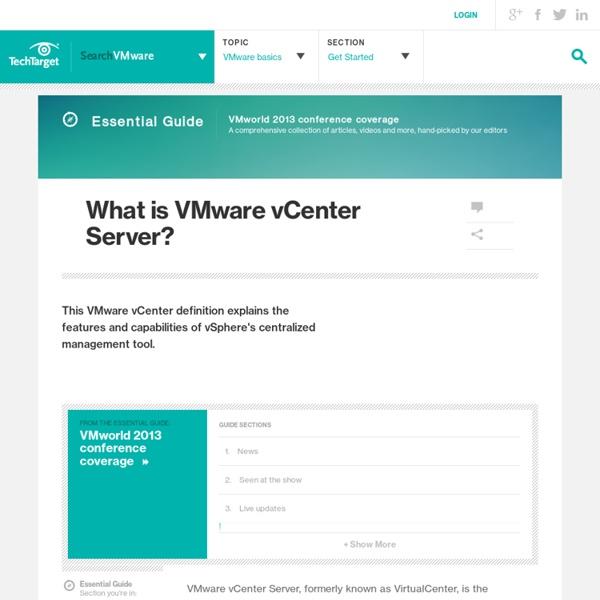 What is VMware vCenter Server?