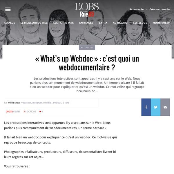 «What's up Webdoc»: c'est quoi un webdocumentaire?
