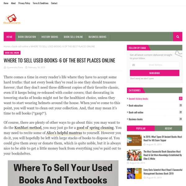 WHERE TO SELL USED BOOKS: 6 OF THE BEST PLACES ONLINE