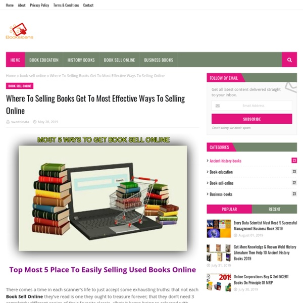 Where To Selling Books Get To Most Effective Ways To Selling Online