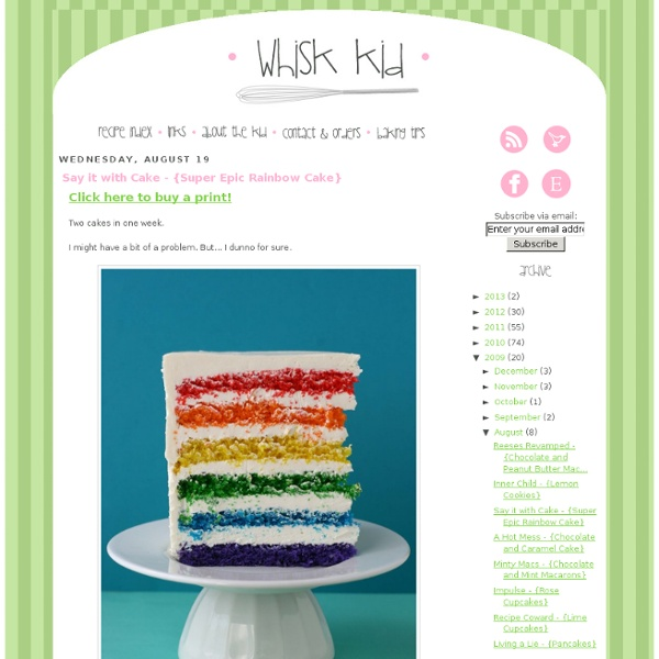 Say it with Cake - {Super Epic Rainbow Cake}