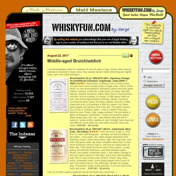 Whisky Fun by Malt Maniacs' Serge - Blog about Single Malt Scotch Whisky and Music