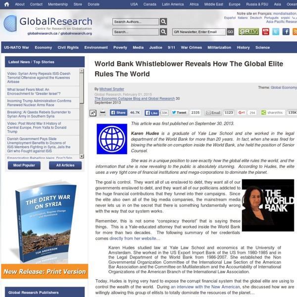 World Bank Whistleblower Reveals How The Global Elite Rule The World