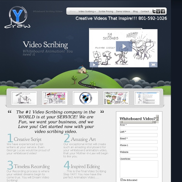 Video Scribing Videos, Whiteboard animation videos and animation videos - Ydraw.com