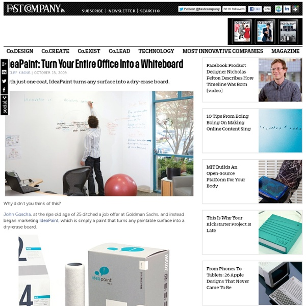 IdeaPaint: Turn Your Entire Office Into a Whiteboard