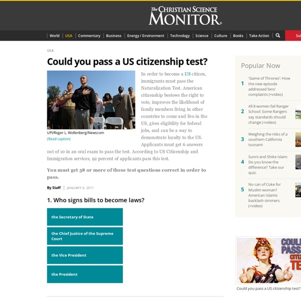 Could you pass a US citizenship test? - US Congress