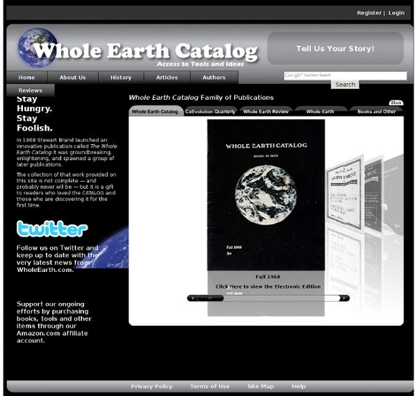 Whole Earth Catalog Stay Hungry Stay Foolish
