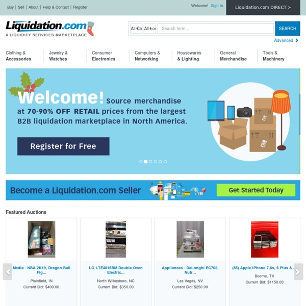 Wholesale Electronics, Clothing, and More Auctions by Liquidators