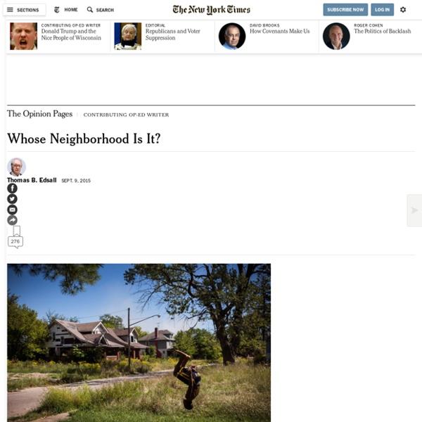 Whose Neighborhood Is It?