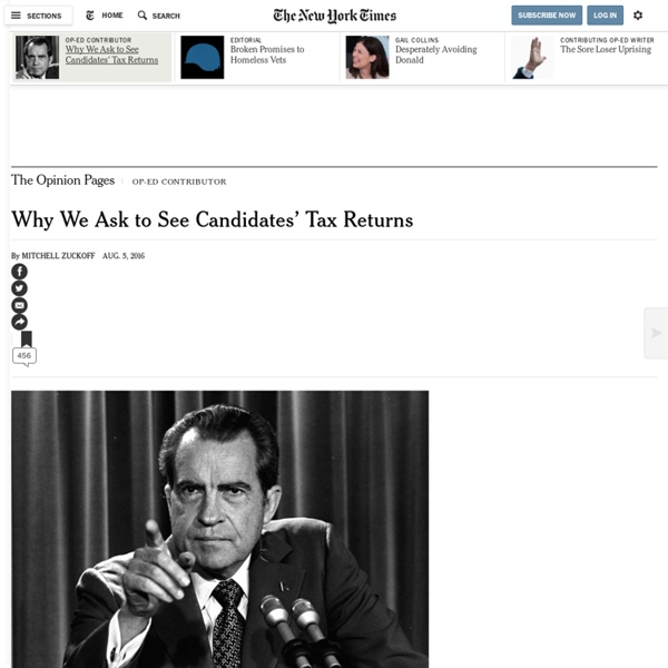 Why We Ask to See Candidates' Tax Returns