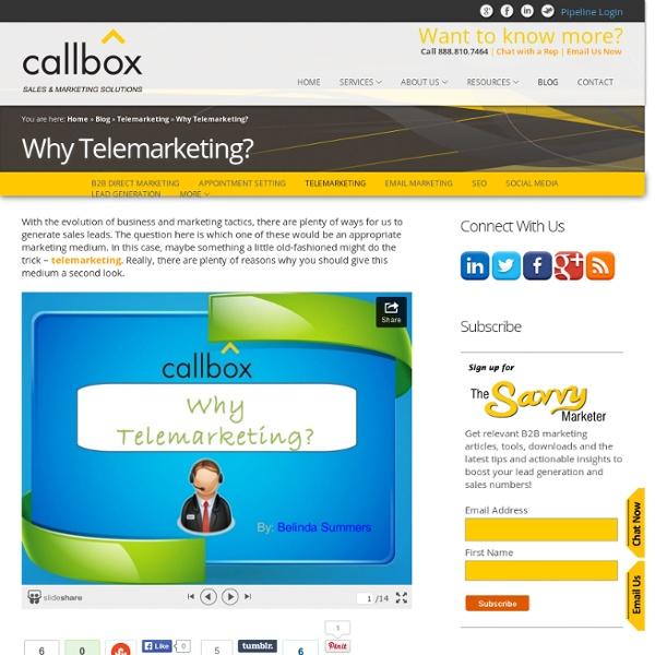 Why Telemarketing?